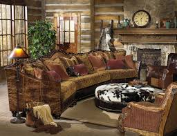 western decorating ideas with a cow leather sofa and decorative