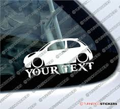custom nissan 240z 2x custom your text lowered car stickers nissan micra k12 3 door