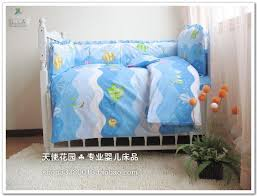 breathable baby bed bumper blue baby crib bumper set duvet cover