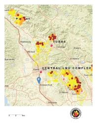 Wildfire Map Current Map View Of Sonoma County Fires Krcb