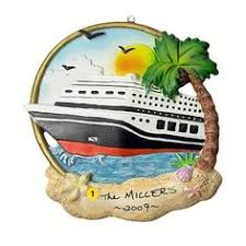 travel cruise ship personalized tree ornament