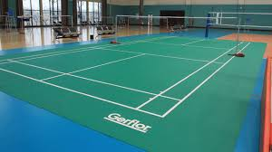 Vinyl Sports Flooring For Indoor Use For Tennis Courts