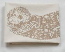 Organic Kitchen Towels - otter towel etsy
