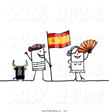 royalty free flag stock stick figure designs