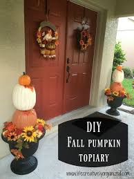 pumpkin topiary diy fall pumpkin topiary hometalk