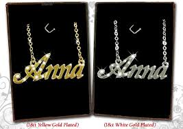 jewellery name necklace images Name necklace 18k gold plated jewellery gifts personalised fashion jpg