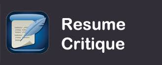 Resume Critique Center For Career And Professional Development Sfasu