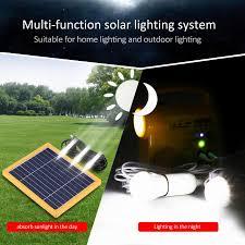 Solar Lighting Indoor by Floureon Multi Function Solar Lighting System Including Solar