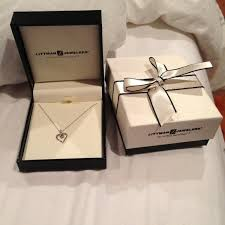 diamond box necklace images Littman jewelers jewelry diamond heart necklace poshmark jpg