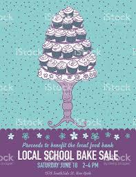 cute cartoon bake sale flyer template stock vector art 514065198