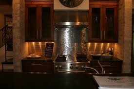 Stainless Steel Kitchen Backsplash Ideas Stainless Steel Backsplash Kitchen Ideas This Kitchen Has Light