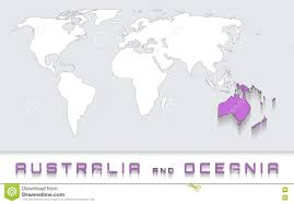 Blank Australia Map by Australia And Oceania On The Map Stock Vector Image 79877087