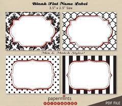 printable name tags best photos of dessert label printables printable blank name