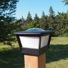 Solar Light Caps For Deck Posts by 4x4 Fence Post Solar Light By Free Light 4x4 Post Cap Solar Light