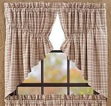 Primitive Swag Curtains Tacoma Lined Prairie Swag Curtains Primitive Quilt Shop