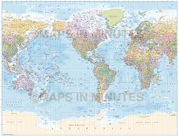 Basic World Map by Vector World Map America Centric Political Gall Projection With
