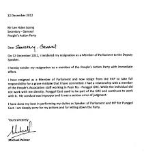 resignation letter template for resignation letter singapore from