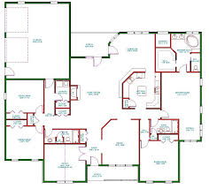 one level house plans single open floor plans plan single level one