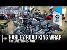 harley davidson wrapping paper east orlando harley davidson road king bike wrap time lapse