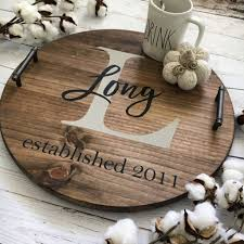 personalized serving tray personalized wood serving tray coastal crafty