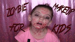 kids halloween makeup this is halloween zombie makeup for kids youtube