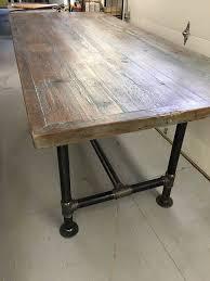 rustic metal and wood dining table circular industrial table round wooden dining table with metal