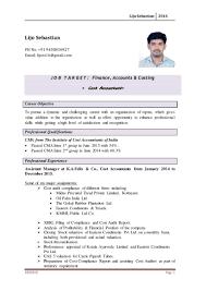 Cost Accountant Cover Letter Cma Resume Sample Resume Cv Cover Letter