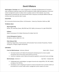 Developer Resume Sample by Sample Web Developer Resume 10 Examples In Word Pdf