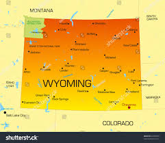 map of wyoming vector color map wyoming state usa stock vector 26090995