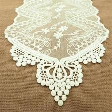 ivory lace table runner lace dresser runners floral lace table runner inch 6 feet ivory lace