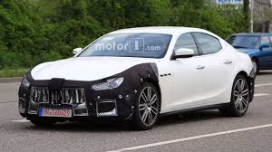 maserati ghibli sedan maserati ghibli spy photos show car is happy to be out of snow