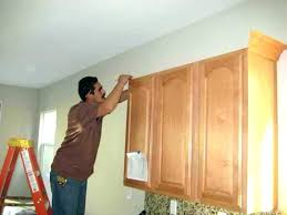 how to install crown molding on kitchen cabinets kitchen cabinet trim installation how to install crown molding on