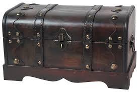 antique cedar chest trunk steamer wood metal home coffee table