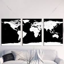 World Map Wall Poster by Online Get Cheap Wall Painting World Map Black Aliexpress Com