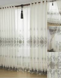 Beige And White Curtains Country Curtains In Beige With Polyester Fabrics