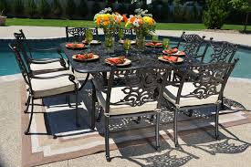 Aluminum Patio Tables Sale Serena Luxury 8 Person All Welded Cast Aluminum Patio Furniture