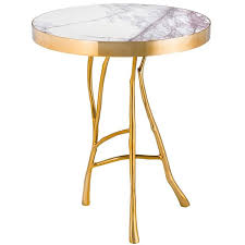 marble gold coffee table branches marble side table in gold finish or bronze finish for sale