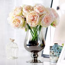 artificial peonies 5 heads artificial silk peony flowers wedding hydrangea