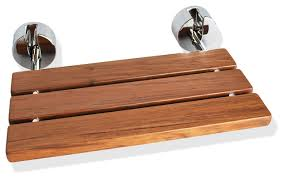 wall mounted teak wood folding shower seat contemporary shower