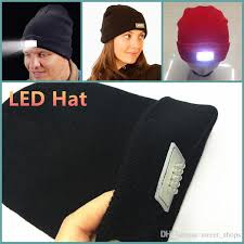 knit hat with led lights online cheap led lighting beanie women men cing knitted hats