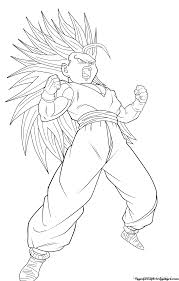 teen gohan super saiyan 3 lineart by jamalc157 on deviantart