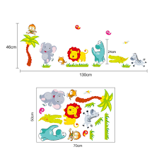 Jungle Wallpaper Kids Room by Vinyl Sticker Production Picture More Detailed Picture About