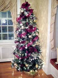 a decorated 7 1 2 foot slim tree decorating