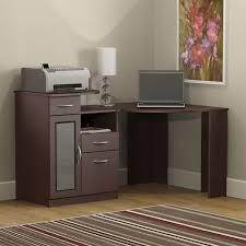 Corner Workstation Desk by Tables Elegant Mainstays Corner Workstation Cherry With Black
