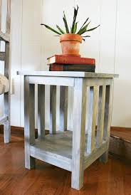 How To Build Wood End Tables by How To Build A Simple Diy Mission Style End Table