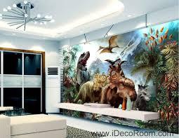 Dinosaur Home Decor by 3d Dinosaurs Jurassic World Mountain Wallpaper Wall Art Print