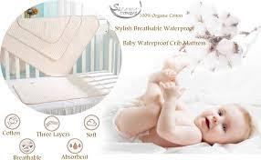 amazon com baby waterproof mattress crib bed pads organic cotton