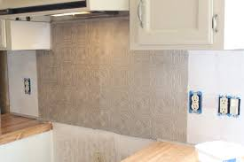 Textured Paintable Wallpaper by Li U0027l Buck U0027s Creations Faux Metal Kitchen Backsplash Paintable