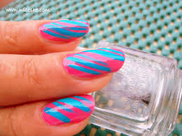 28 blue and pink nail designs 55 most beautiful zebra print nail