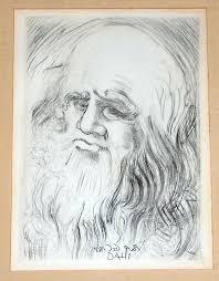 salvador dali original etching immortals of art leonardo da vinci